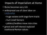 impacts of imperialism at home