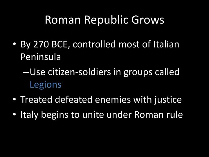 Roman Republic Grows