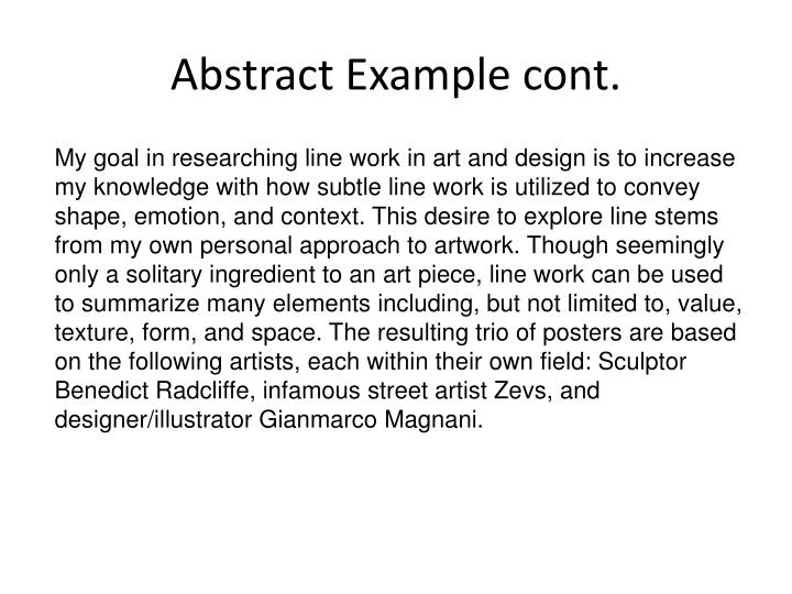 Abstract Example cont.