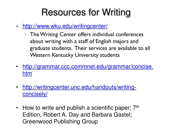 Resources for Writing