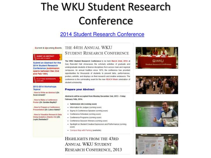 The WKU Student Research Conference