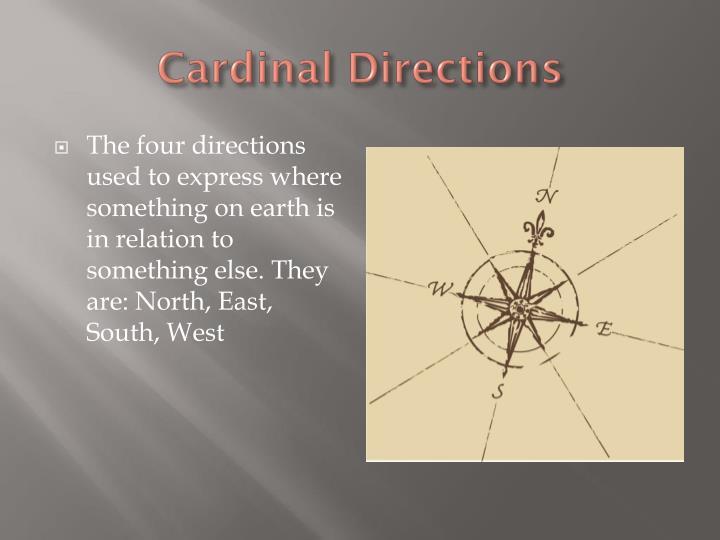 Cardinal Directions