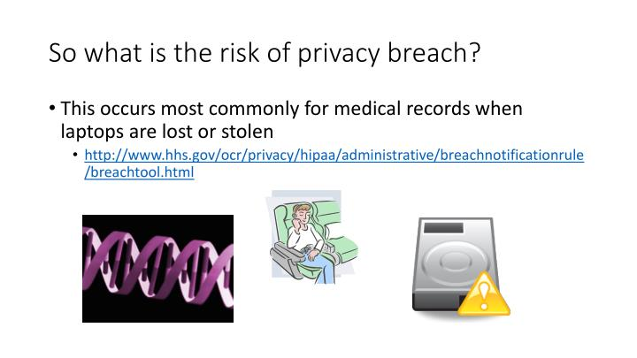 So what is the risk of privacy breach?