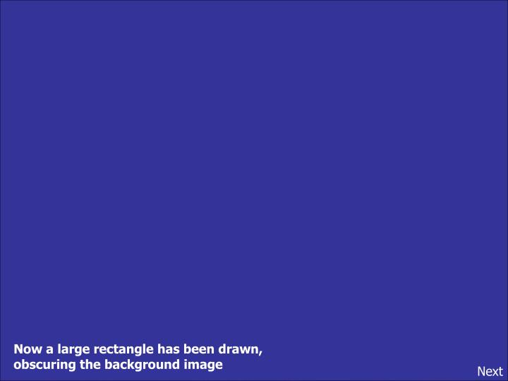 Now a large rectangle has been drawn,
