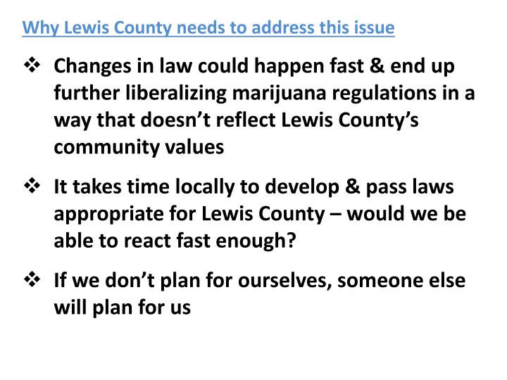Why Lewis County needs to address this issue