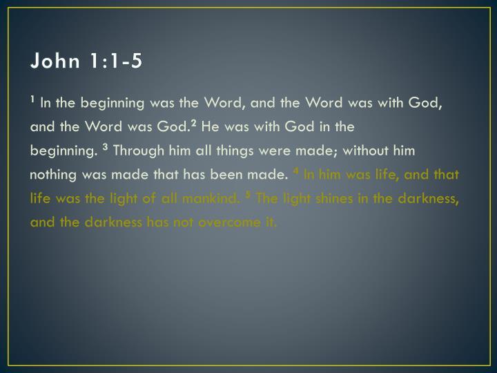 John 1:1-5