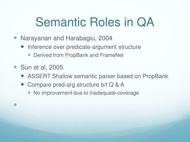 Semantic Roles in QA