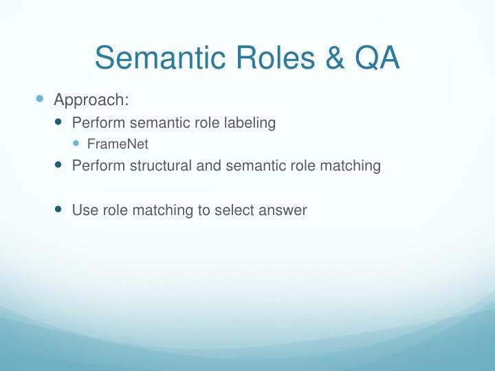 Semantic Roles & QA