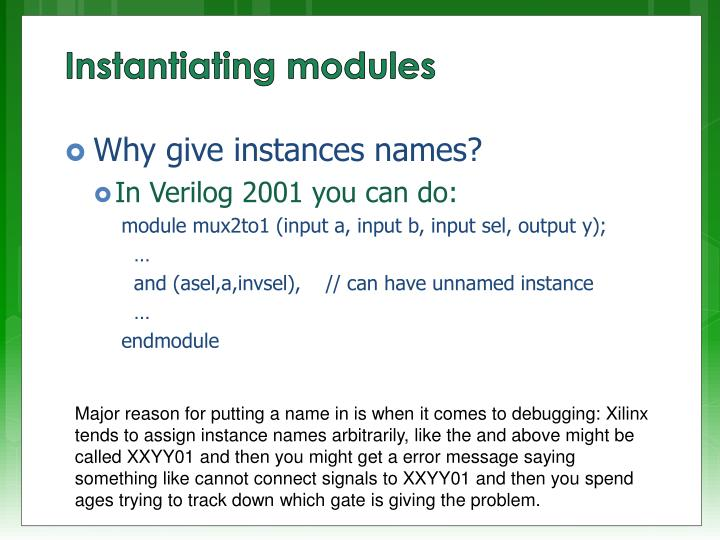 Why give instances names?