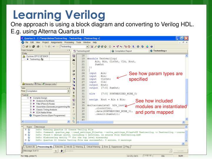 Learning Verilog