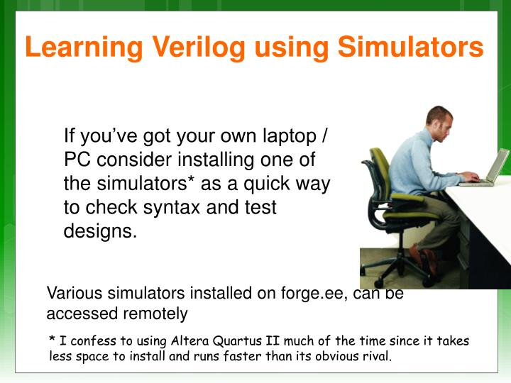 Learning Verilog using Simulators