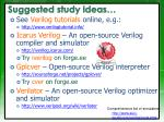 suggested study ideas