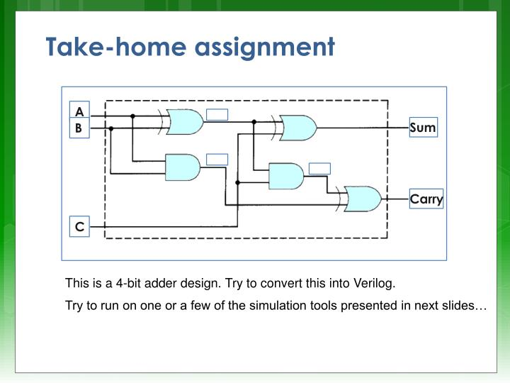 Take-home assignment