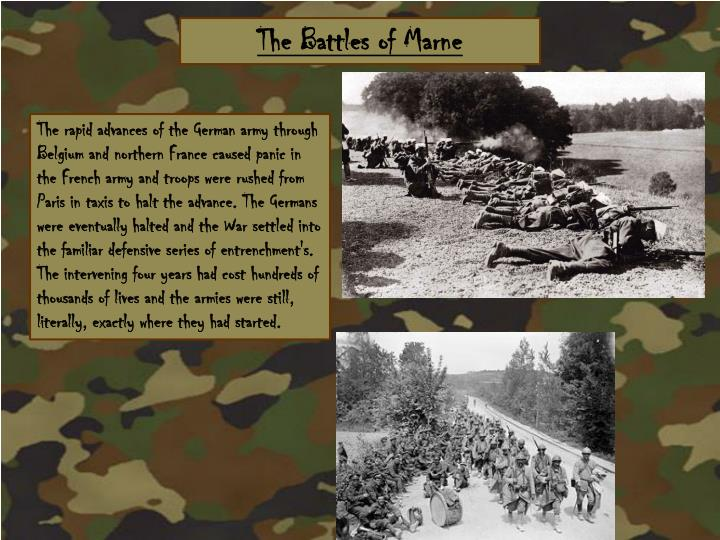 The Battles of Marne