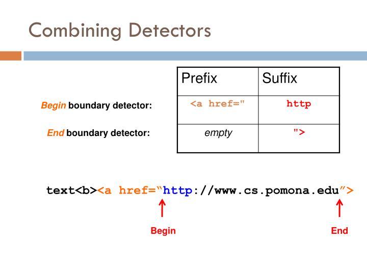 Combining Detectors