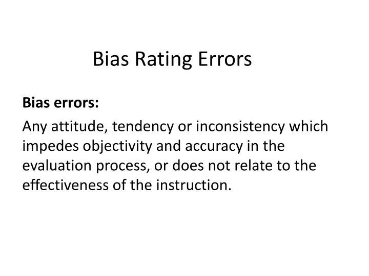 Bias Rating
