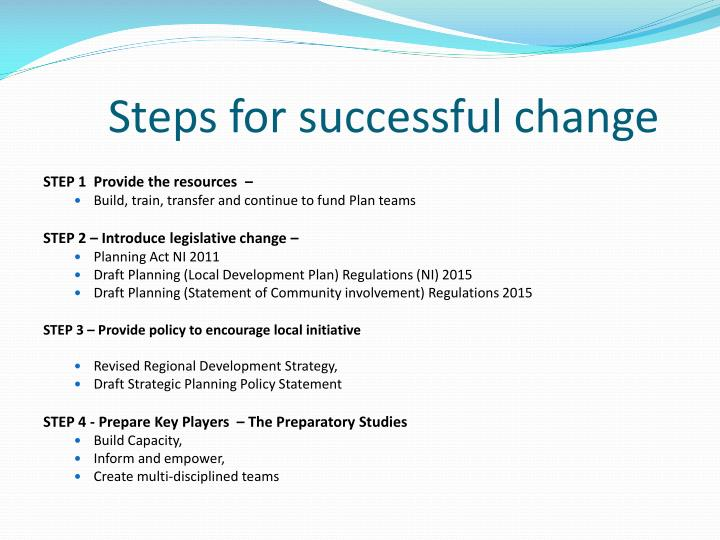 Steps for successful change