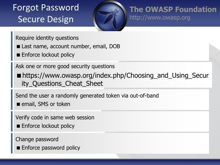 Forgot Password Secure Design