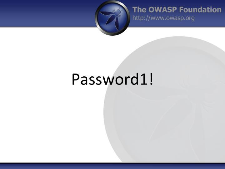 Password1!