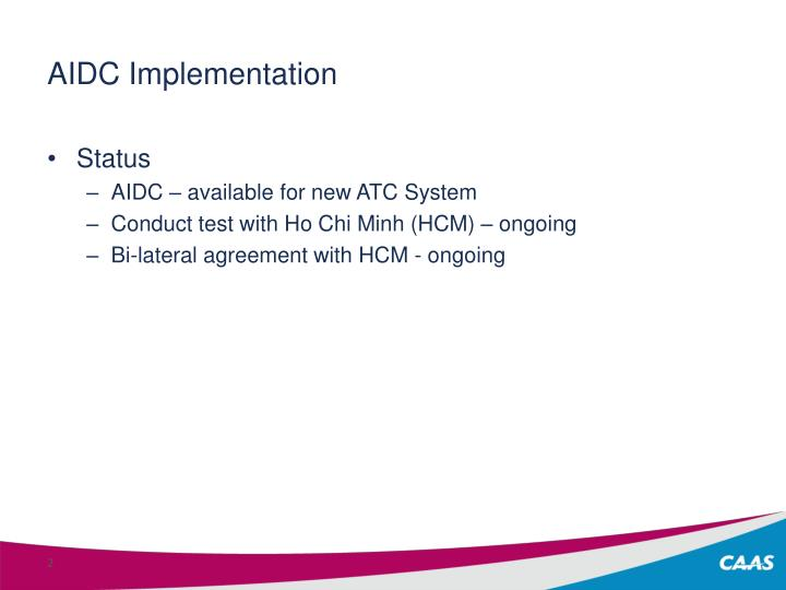 AIDC Implementation