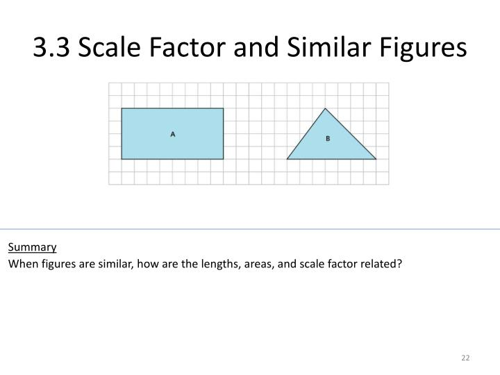 3.3 Scale Factor and Similar Figures