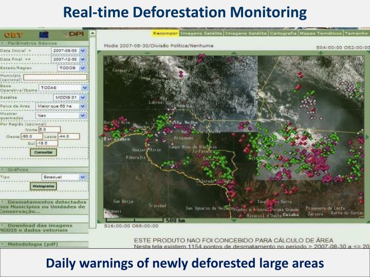 Real-time Deforestation Monitoring