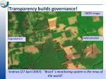 transparency builds governance