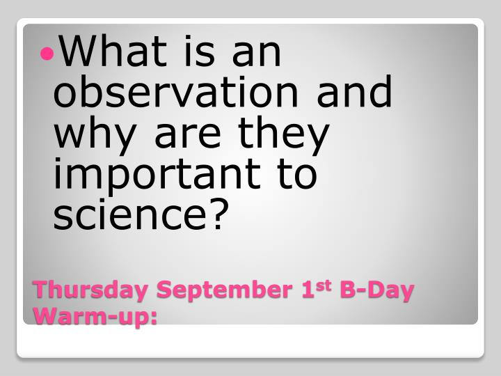 What is an observation and why are they important to science?