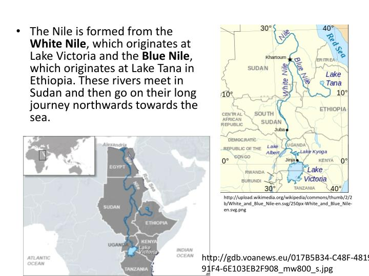 The Nile is formed from the