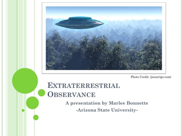 Extraterrestrial observance
