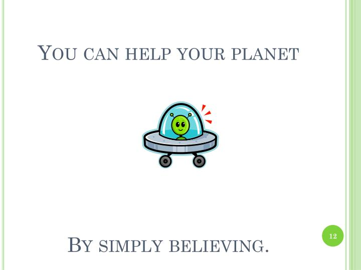 You can help your planet