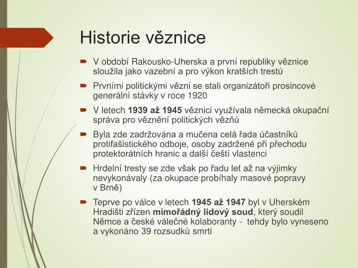Historie věznice