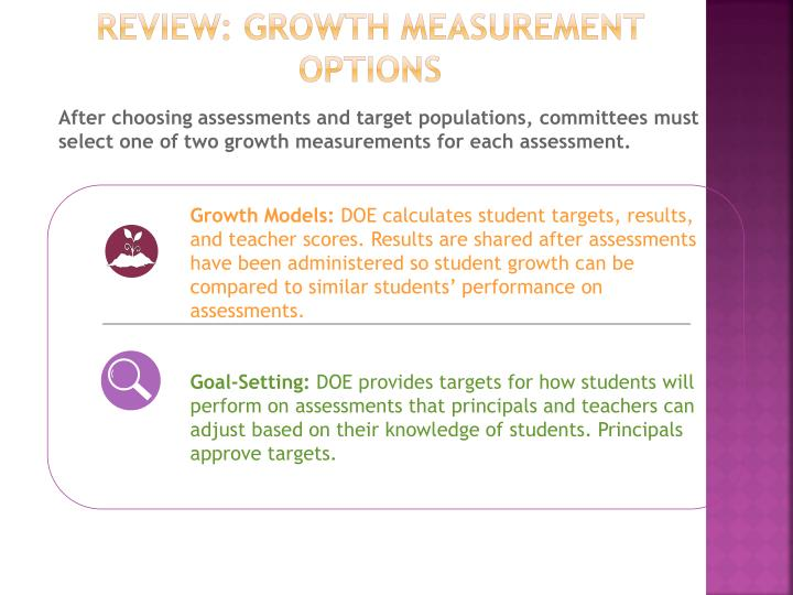 Review: Growth Measurement Options