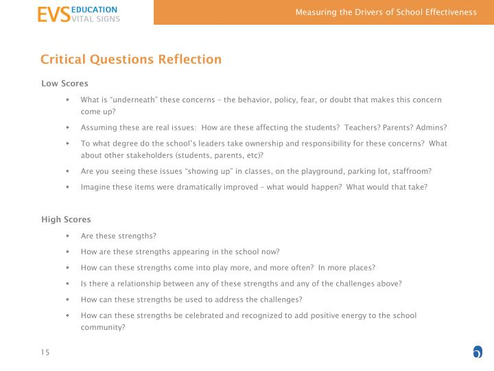 Critical Questions Reflection
