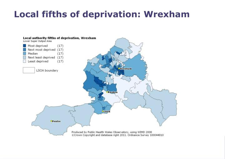 Local fifths of deprivation: Wrexham