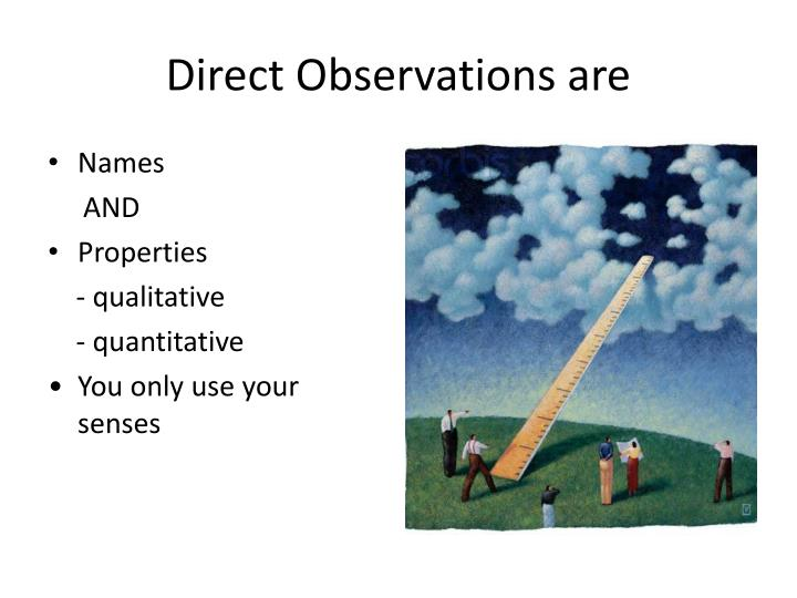 Direct Observations are