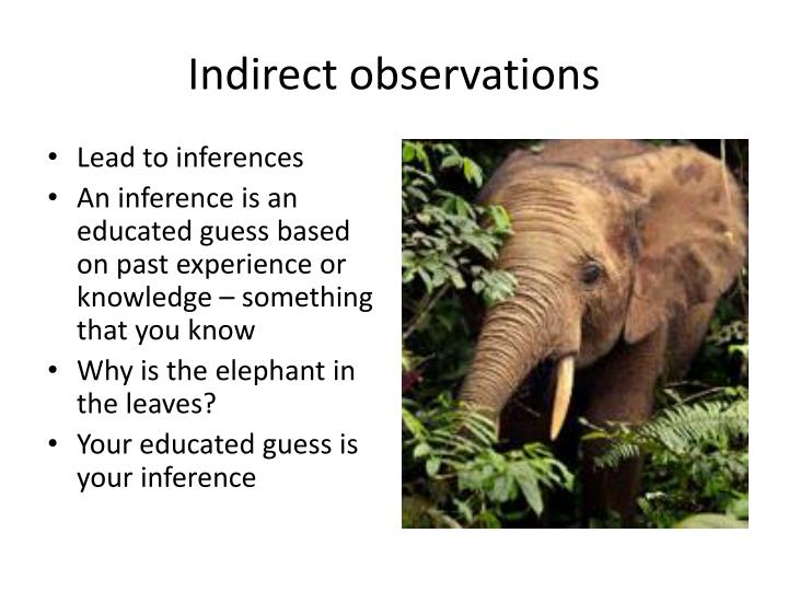 Indirect observations