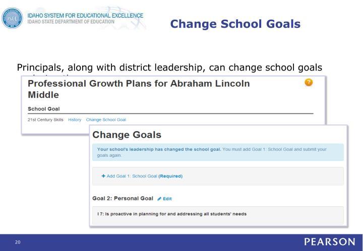 Change School Goals