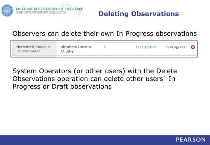 Deleting Observations