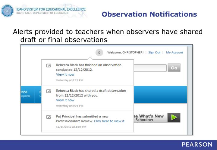 Observation Notifications