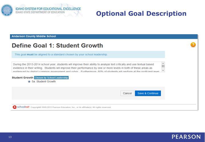 Optional Goal Description