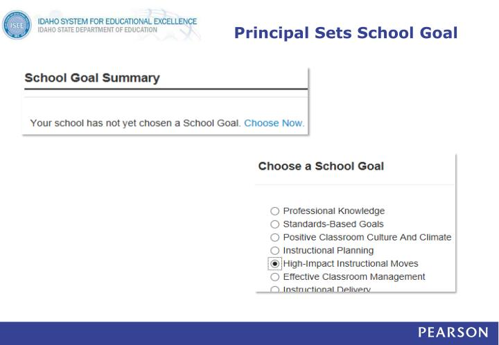 Principal Sets School Goal