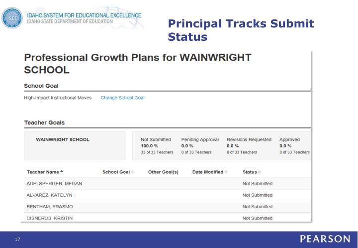 Principal Tracks Submit Status