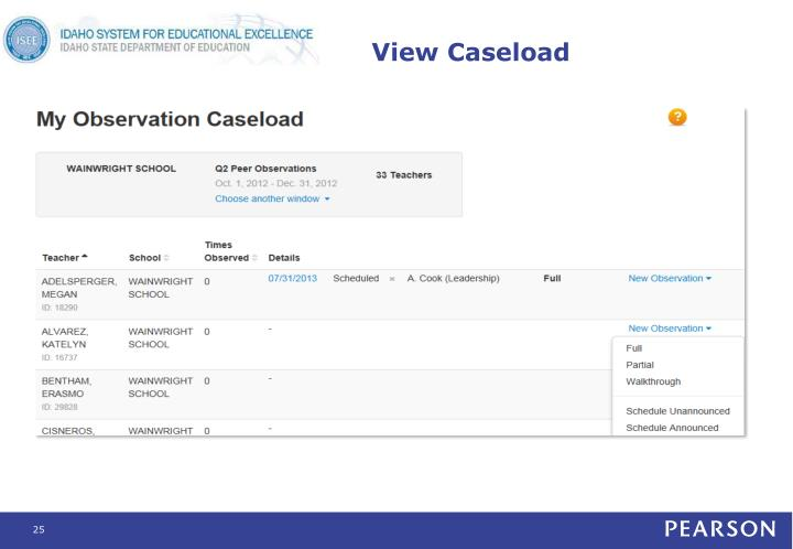 View Caseload