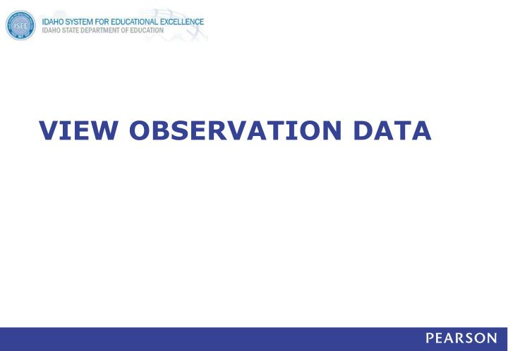 VIEW OBSERVATION DATA