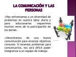 la comunicaci n y las personas
