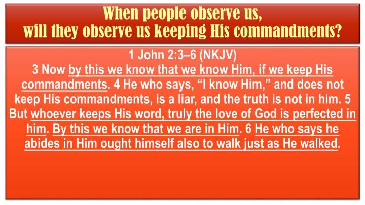 When people observe us,
