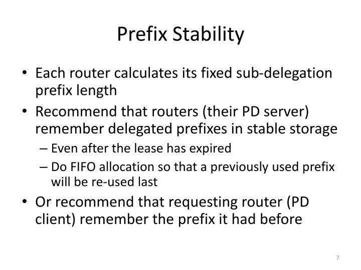 Prefix Stability