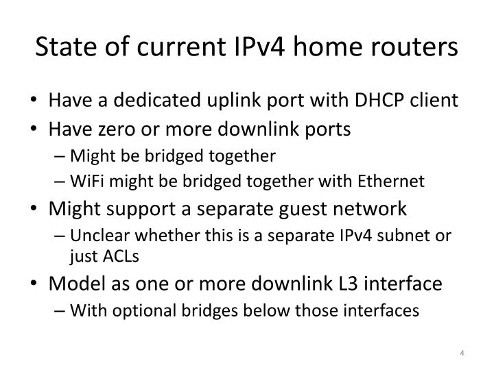State of current IPv4 home routers