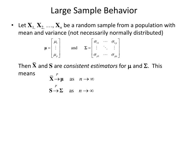 Large Sample Behavior